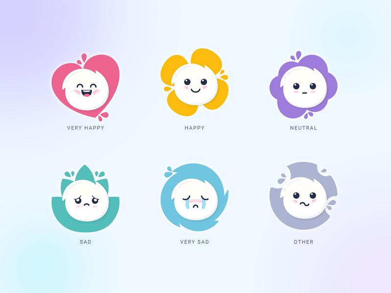 Mobile App UI - Unwind -  Feelings adobe illustrator feelings feels