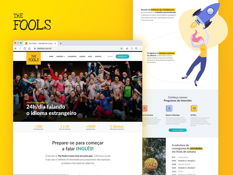 Website Redesign - The Fools fools design ux design ui design responsive website