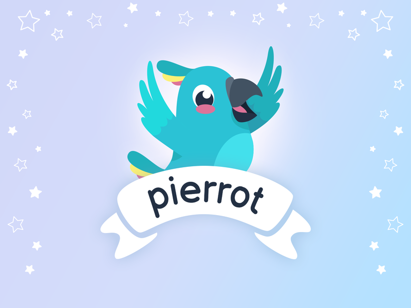Logo - Pierrot learning english learning app learn language pierrot apple store apple ios mobile ux design uidesign app