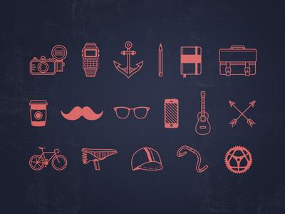 Outline Icon Set for Cutero Bikes