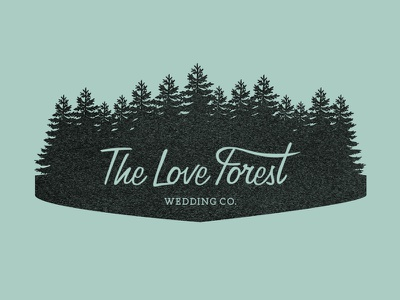 The Love Forest loveforest wedding logo identity forest illustrator vector