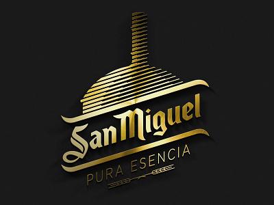 San Miguel PURA ESENCIA logo beer gold vector photoshop