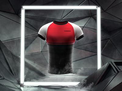 K Lite Dribbble texture v-ray dark future c4d t-shirt cgi smoke fog running icon 3d