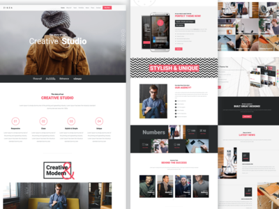 Zigzag Multipurpose Page Template modern clean agency template multipurpose html themeforest buy responsive site website design