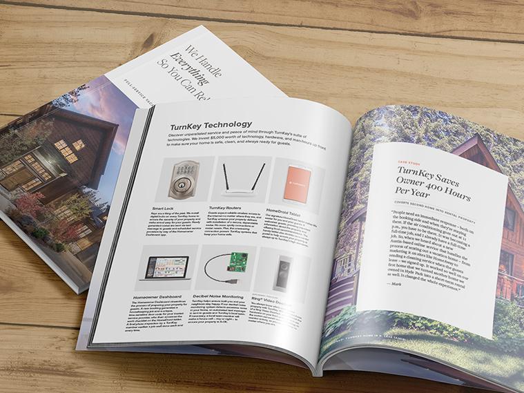 Brochure on wood