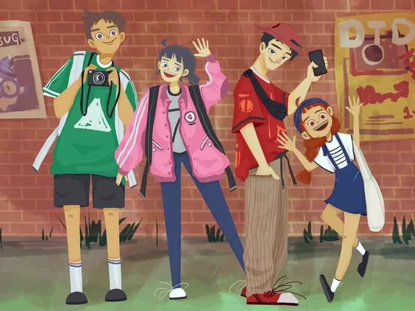 Hello world :) illustration