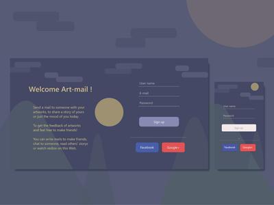 Sign up design 001