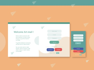 Sign up Design 002