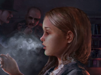 Girl with a cigarette.