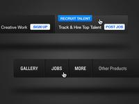 Behance Network - Main Navigation navigation blue black white ui web design ux design interface user interface