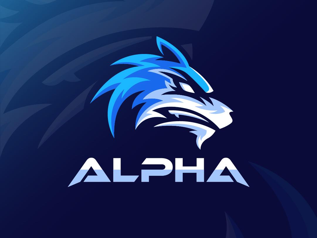 Alpha Esport wolf esport esports logo gaming illustration typography design logo
