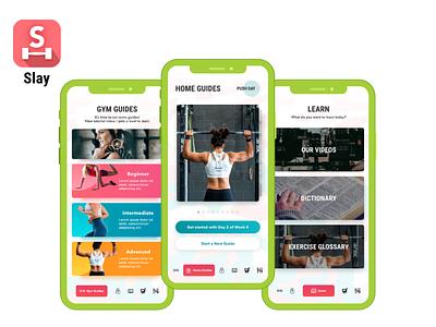 The Slay App by Mari Fitness app development app developers app development company app design android app ios app ui ux design ui  ux health app wellness fitness app