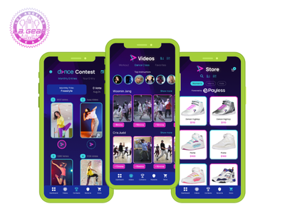 Greater Than Dance by LA Gear mobile app design app design fitness app dance mobile app app development company app developer app development ui ux user interface design ios app android app