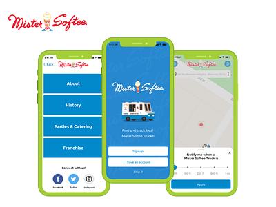 Mister Softee ui ux mobile design app developer app developers app development company geolocation app design user interface design ios app android app