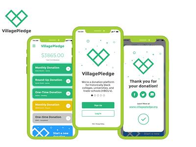 Village Pledge app developer app development company user interface design mobile app ios app android app