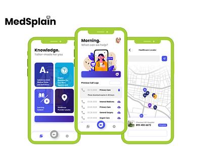 Medsplain app developers app developer uiux app design app development app development company user interface design mobile app ios app android app