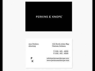Perkins & Knope: Pawnee's #1 Law Firm brand identity typography design logo branding