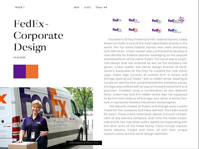Editorial newspaper typogaphy fedex webdesign magazine editorial