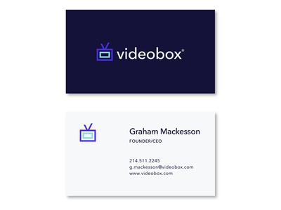 videobox identity video identity web icon design ui typography logo branding