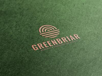 Greenbriar natural earth conservation logo green nature