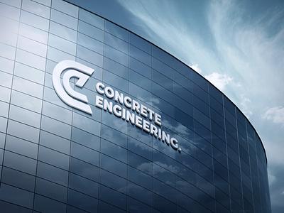 Engineering Company Logo building mockup brand engineering concrete logo
