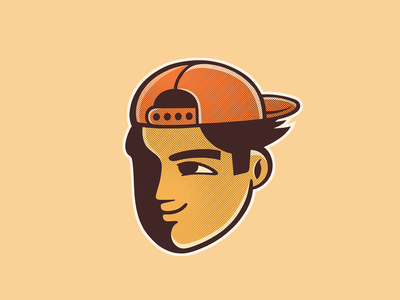 Boy with cap americomartinelli design photoshop illustration