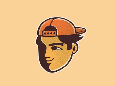 Boy with cap americomartinelli design photoshop illustration