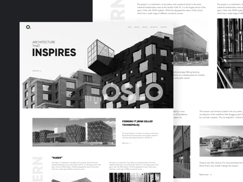 Oslo is a city that inspires web oslo website designline minimalistic black and white ux ui design