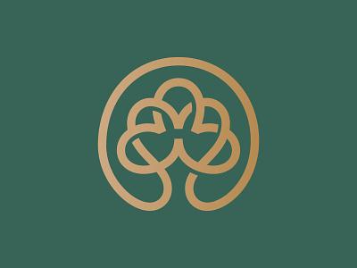 Tree lineart nature design tree logotype animal mark symbol