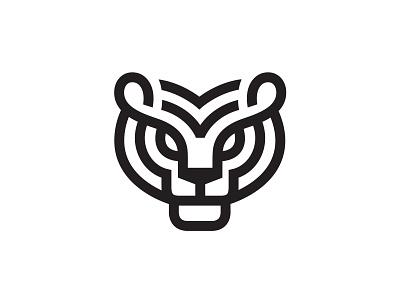 Tiger logo lineart line animal mark symbol