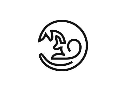 Maternity lineart line mark logodesign animal symbol logo