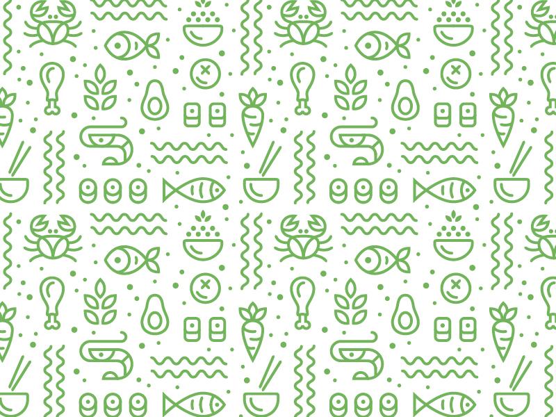Pattern line icon food pattern