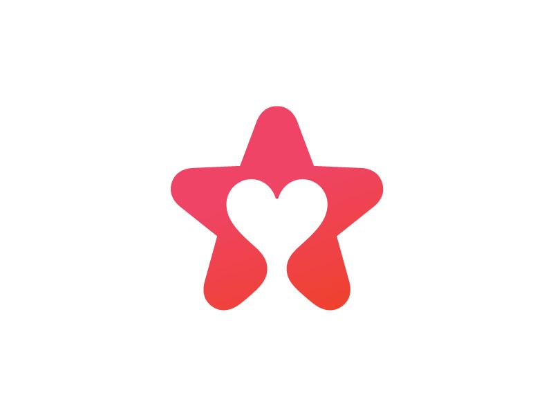 Star+Heart star heart mark symbol logo