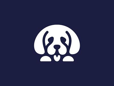 Puppy 2 logo mark symbol puppy dog