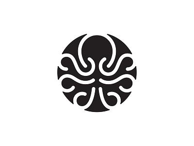Octopus logo octopus icon mark symbol line
