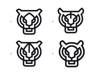 Tiger logo line mark symbol logo animal tiger