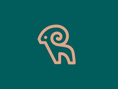 Aries logos line animal ram logo mark symbol