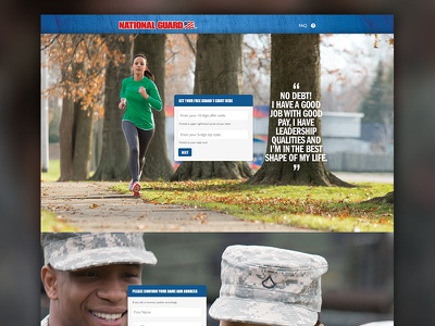 National Guard Checkout web design interaction panels photography army