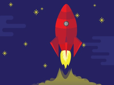 Blasting Off wdg web development group giveback dc space rocket ship design