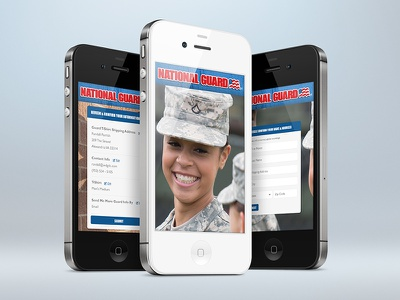 National Guard wdg web development group design development interactive mobile national guard responsive checkout