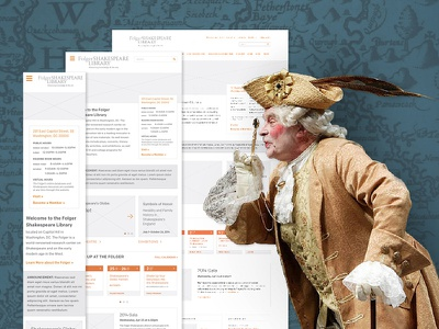 Folger Shakespeare Library ux wireframes shakespeare folger