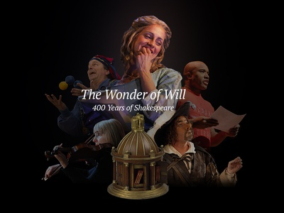Wonder of Will Collage web hero image shakespeare folger theater collage