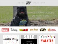 Lil Pup Tees Web Design