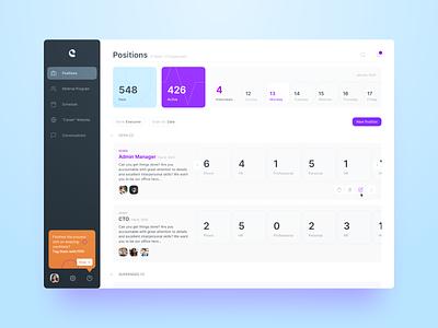 Positions redesign orange purple hr product design website web ui ux