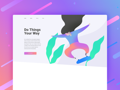 Do Things Your Way website web illustration ui design