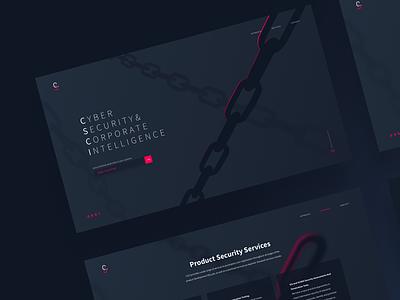 Cyber Security Website website web ui design