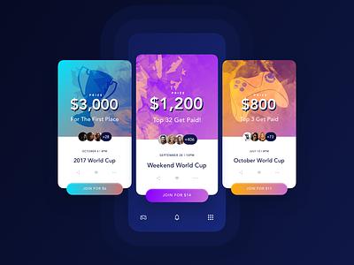 Cards app ux design ui