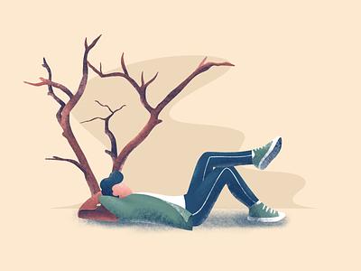 Relax illustration design