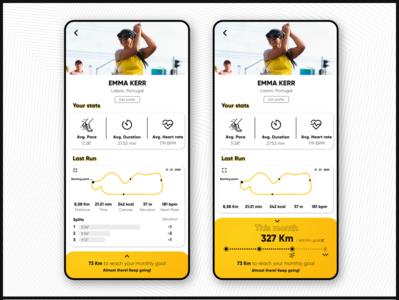 App for runners [Profile stats menu]