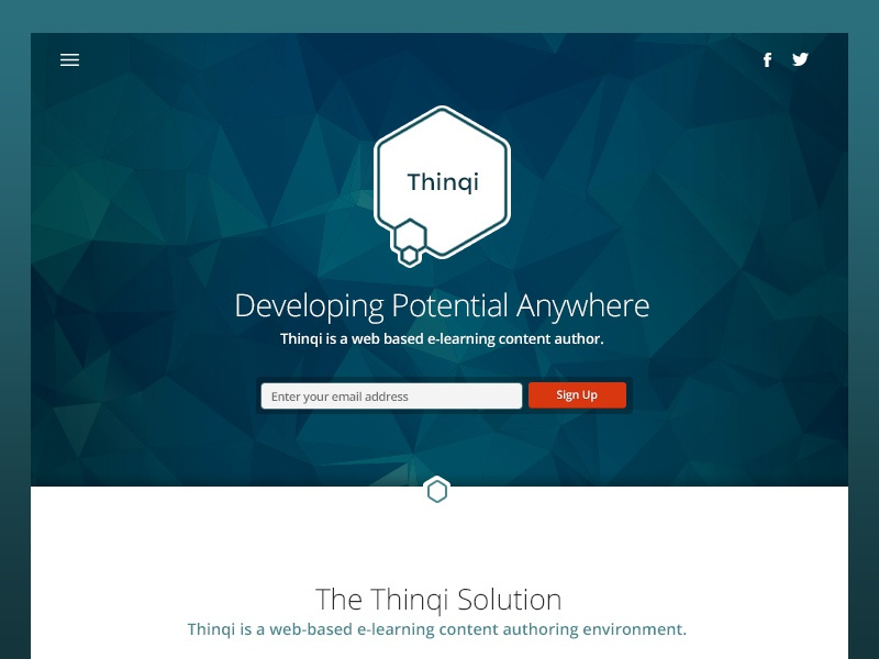 Thinqidribbble thinqi elearning branding website poly clean minimal simple